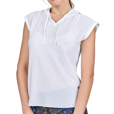 Sofibella Airflow Hoodie Womens White 7022 WHT