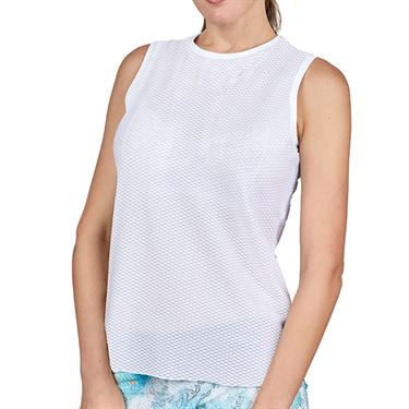 Sofibella Airflow Sleeveless Top Womens White 7052 WHT