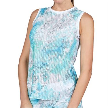 Sofibella Airflow Sleeveless Top Plus  Watercolor