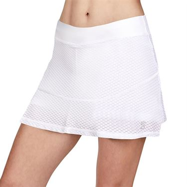 Sofibella Air Flow 14 inch Skirt Womens White 7067 WHT