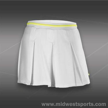 Pure Lime Citronella Box Pleat Skirt-White/Cintronella