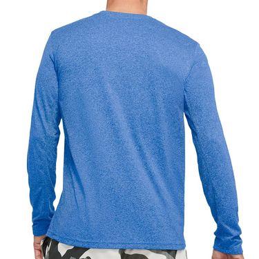 Nike Dri FIT Long Sleeve Shirt Mens Game Royal Heather/Black 718837 456
