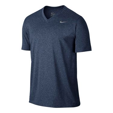 Nike Dry Training Tee Shirt - Obsidian Heather/Matte Silver