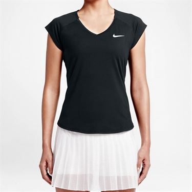Nike Pure V Neck Top - Black