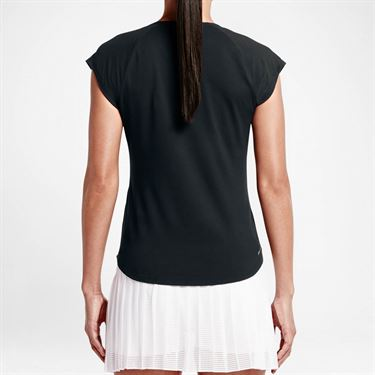 Nike Pure V Neck Top - Black