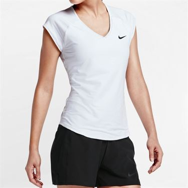 Nike Pure V Neck Top - White