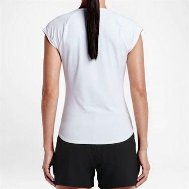 Nike Pure V Neck Top - White