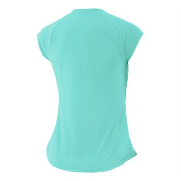 Nike Court Pure V Neck Top - Light Aqua