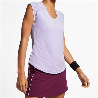 Nike Court Pure V Neck Top - Oxygen Purple