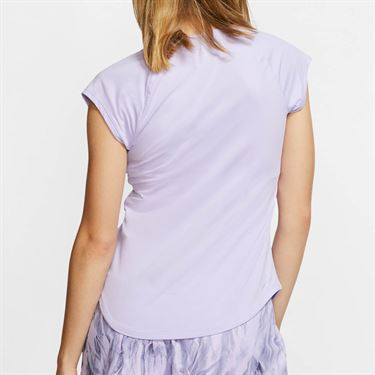 Nike Court Pure V Neck Top - Purple Agate