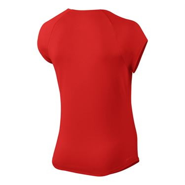 Nike Court Pure Top - Habanero Red/White