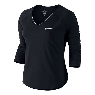 Nike Pure 3/4 Sleeve Top - Black