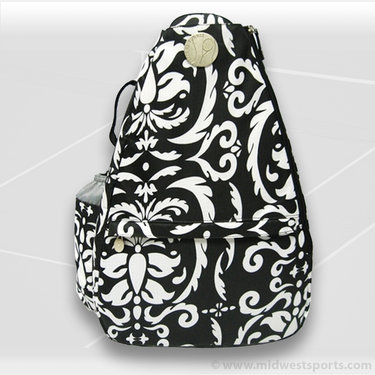 Jet Pac Black & White Paisley Classic Convertible Sling Tennis Bag