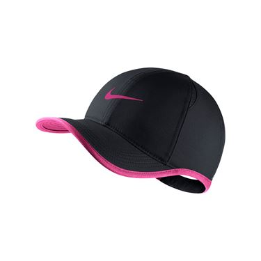 Nike Kids Featherlight Hat - Black/Vivid Pink