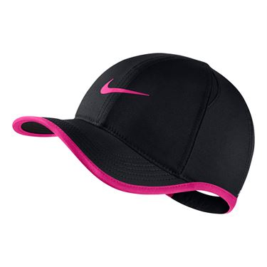 Nike Kids Aerobill Featherlight Hat - Black/Laser Fuchsia