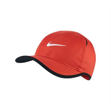Nike Kids Featherlight Hat - Track Red/Black/White