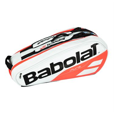 Babolat Pure Line 6 Pack Tennis Bag - White/Red