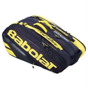 Babolat 2021 Pure Aero 12 Pack Tennis Bag - Yellow/Black