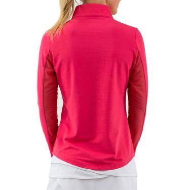 IBKUL Long Sleeve Zip Mock Womens Watermelon 80000