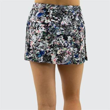 BPassionit Modern Print High Waist Skirt Womens Black/Modern Print 81481 PRT