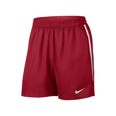 Nike Court Dry 7 Inch Short - Gym Red/White