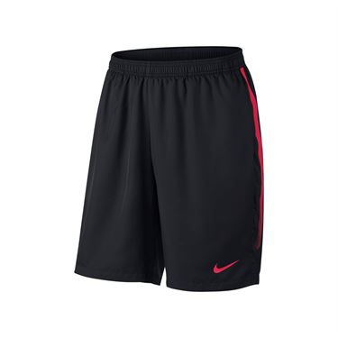 Nike Court Dry 9 Inch Short - Black/Lava Glow