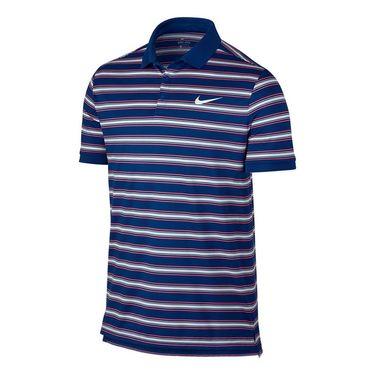 Nike Dry Striped Pique Polo - Blue Jay
