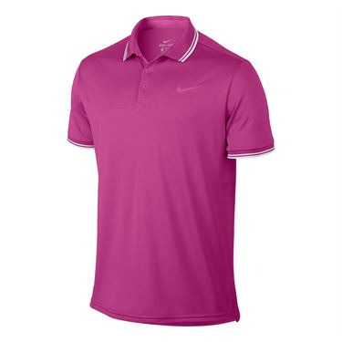 Nike Court Dry Solid Polo - Active Fuchsia
