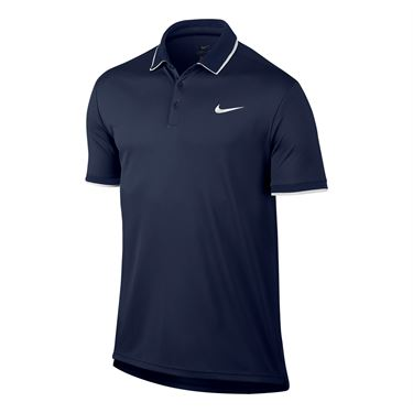Nike Court Dry Team Polo - Midnight Navy/White