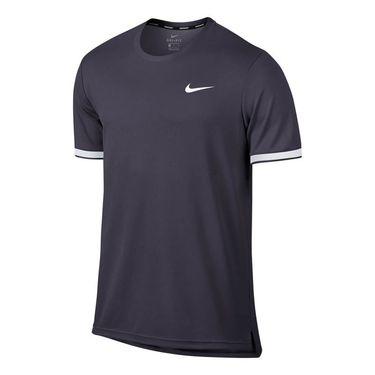 Nike Court Dry Team Crew - Gridiron/White