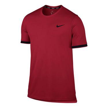 Nike Court Dry Team Crew - Gym Red/Black