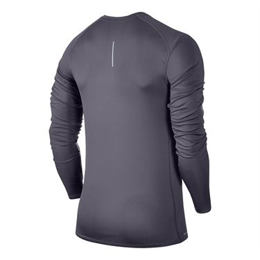 Nike Miler Long Sleeve Crew - Gridiron Heather