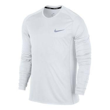 Nike Miler Long Sleeve Crew - White