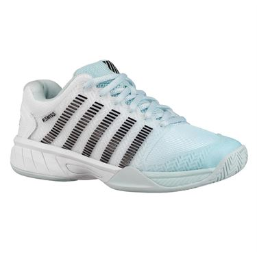 K Swiss Hypercourt Express Junior Tennis Shoe - Pastel Blue/Black/White