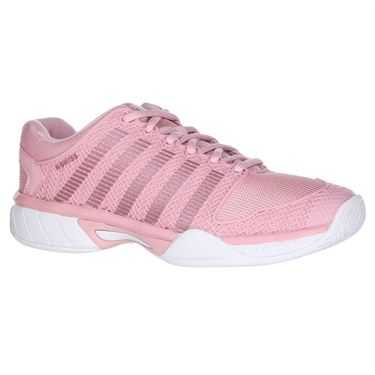 K Swiss Hypercourt Express Junior Tennis Shoe - Coral Blush/White