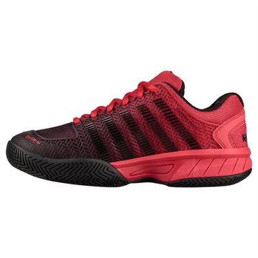 K Swiss Hypercourt Express Junior Tennis Shoe - Lollipop Red/Black