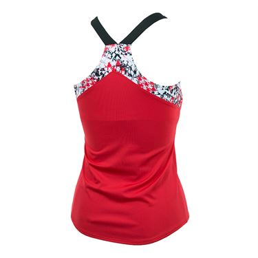 Bolle Checkmate V Neck Tank - Bolle Red