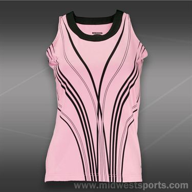 Bolle Mona Lisa Scoop Neck Tank-Neon Pink