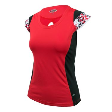 Bolle Checkmate Cap Sleeve Top - Bolle Red