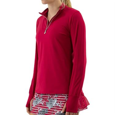 Bolle Cherry Blossom Long Sleeve 1/2 Zip Top Womens Cherry 8406 7217û