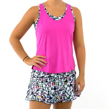 Bolle Pop Art Layered Tank - Spark Pink