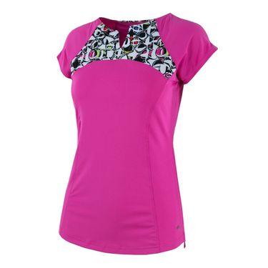 Bolle Pop Art Cap Sleeve Top - Spark Pink
