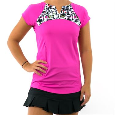 Bolle Pop Art Cap Sleeve Top - Spark Pink
