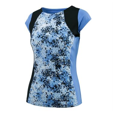 Bolle High Resolution Cap Sleeve Top - Periwinkle