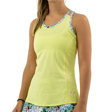 Bolle Magnolia Criss Cross Strappy Tank Womens Lemon 8420 30 6011