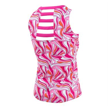 Bolle Color Burst Strappy Back Tank - Fuchsia