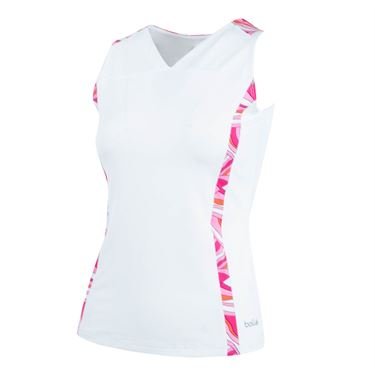Bolle Color Burst V-Neck Tank - White