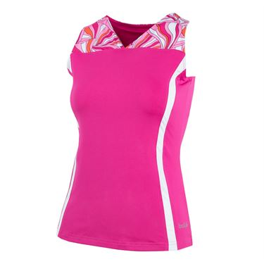 Bolle Color Burst V-Neck Tank - Fuchsia