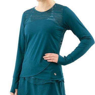 Cross Court Blue Abyss Long Sleeve Top Womens Poseidon 8437 8032û
