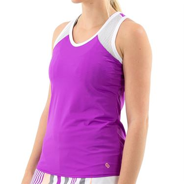 Cross Court Violet Dreams Racerback Tank Womens Cactus Flower 8448 3113